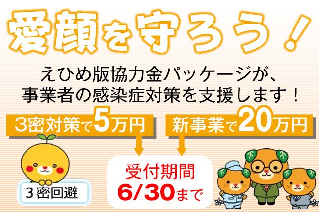 [6/30迄|感染症対策に支援!]えひめ版協力金パッケージをチェック!!